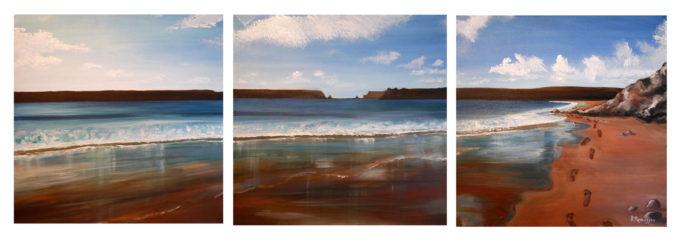 Footprints Triptych
