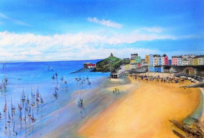 Tenby Harbour, Sailing Boats