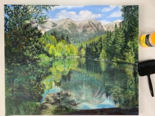 Varnished and sent today! A commissioned piece of Alaska. First original piece to be sent internationally! Exciting times! Now to make this possible on my website! I find being a one man band, it's hard to do certain things efficiently. I'm learning how to update my website myself as it's pricey if I go else where. I am learning that my wordpress website is hard to do simple things! For example it took me an hour and a half to figure out how to change shipping costs! I was on YouTube and everything! But exciting news! I'm saying bye bye to my crappy laptop and getting an IMac! Second hand but better than what I've got! #yayfortechnology #learning #artist #artistsoninstagram #alaska #nowsellinginternationally #dmmeformoreinfo #lake #alaskalife #alaskaart