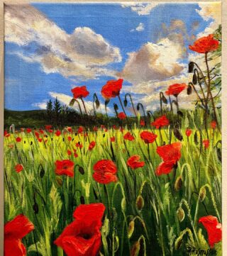 """Least we forget"" today is Remembrance Sunday. We usually go down to the Cardiff cenotaph to honor those that have died before us, giving their lives for the safety and freedom of our country. I painted this on VE Day a few months back. This has been one of my fav days this year in lockdown. It felt so special because of the current circumstances of a different battle we face, it made me realise how precious our lives and livelihood is. Victory in Europe day was a day those will never forget. I hope one day we will throw quite the street party for when we solve this battle we have. We owe our respect to those that willing served and serve us this day. Thank you to my Ancestors William Eden private 20076 died in 1st world war. William Cornell and William George Brown. These are family I know of so far. May the next generations find appreciation for our history. If you'd like to support the Royal British Legion charity for those that have served, please donate to my justgiving page for the poppy run I'm doing next Saturday. https://mypoppyrun.britishlegion.org.uk/fundraising/MyPoppyRun2020-RachelRasmussen Prints available 🌹🌺🌹🌺🥀🥀 #nopoppyemojis #remembranceday #poppyappeal #poppyday #poppypainting #art #leastweforget #landofmyfathers #love #veday #mypoppyrun2020 #mypoppyrun #15kpoppyrun"