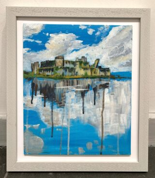 Today's Christmas special Framed Caerphilly Castle Abstract For sale 8 x 10 acrylic on canvas 12 x 14 frame Was £180 Now £130 This painting was one I created in Lock down where I did an abstract week. I loved playing with the colours and drips in the reflection. Inbox me for details. Payment plan available #caerphilly #caerphillycastle #caerphillygift #uniquegifts #welshartists #welshcastle #walespainting #castlepainting #abstract